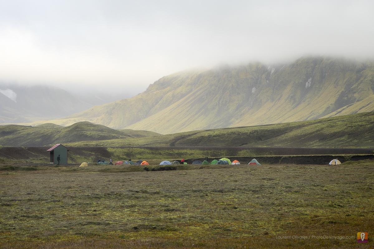 Camping przy Álftavatn