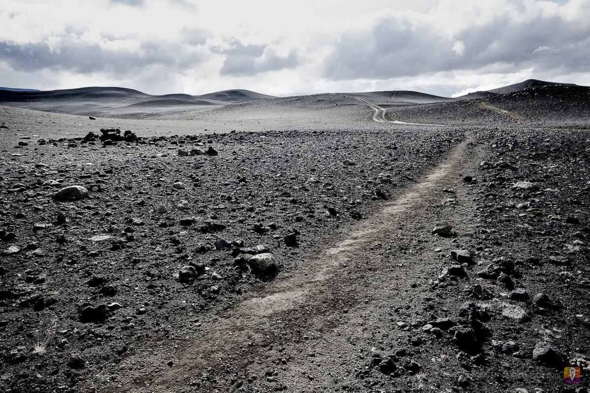 Islandia trek Laugavegur pustynia z pyłu wulkanicznego