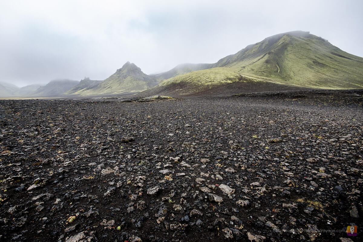 Islandia trek Laugavegur odcinek między Alftavatn i Emstrur czarna pustynia