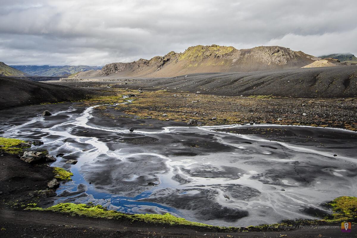 Islandia trek Laugavegur droga między Alftavatn i Emstrur
