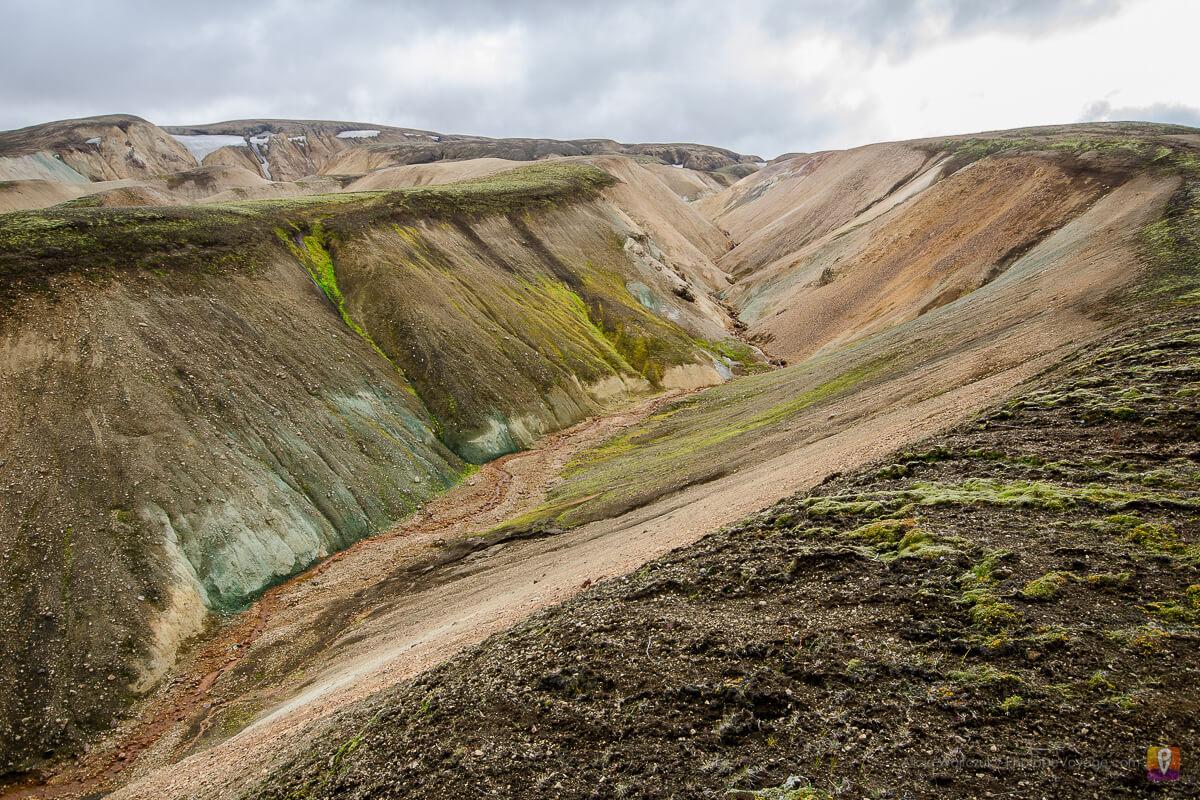 Islandia trek Laugavegur wulkaniczne okolice góry Brennisteinsalda