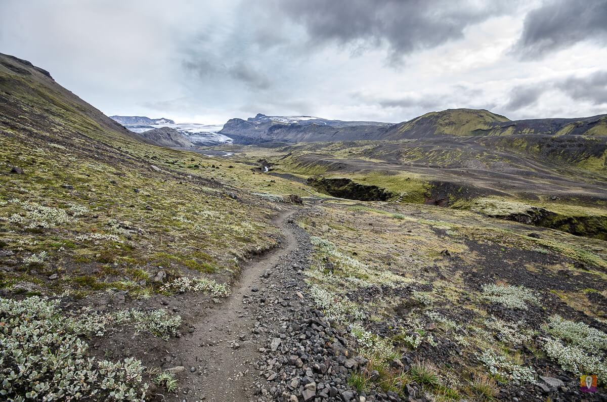 Islandia trek Laugavegur widok na Mýrdalsjökull