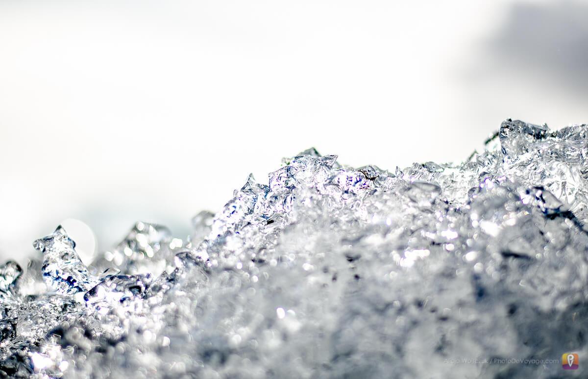 Kawałek topniejącego lodu