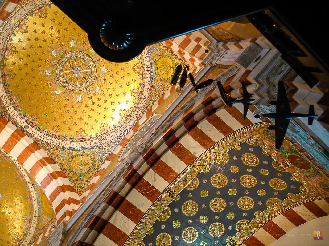 Kopuła i mozaiki w bazylice Notre Dame de la Garde