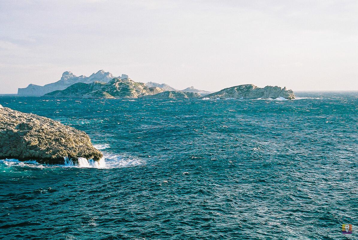Morze Śródziemne podczas Mistralu