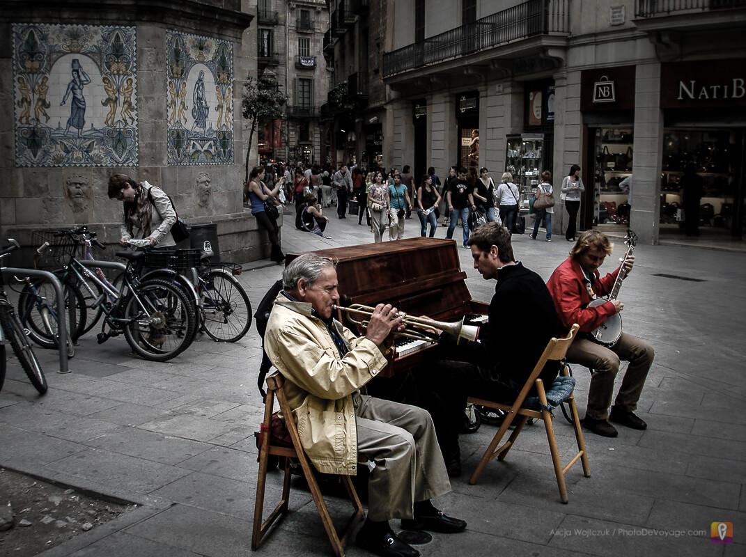 Muzyka na ulicach Barcelony
