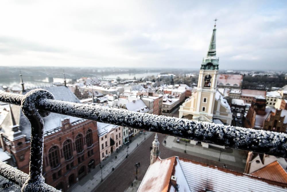 Polska - Toruń zimą