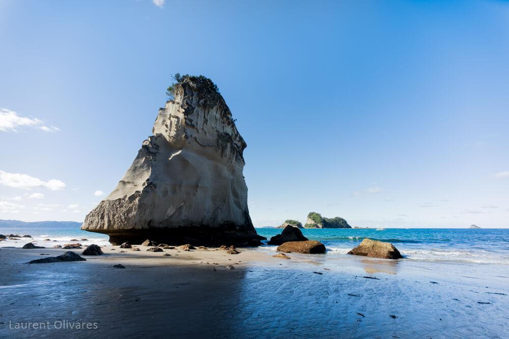 Un rocher de Cathedral Cove