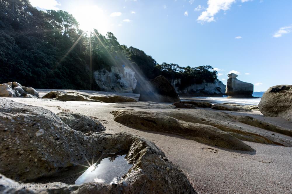 Un reflet à Cathedral Cove