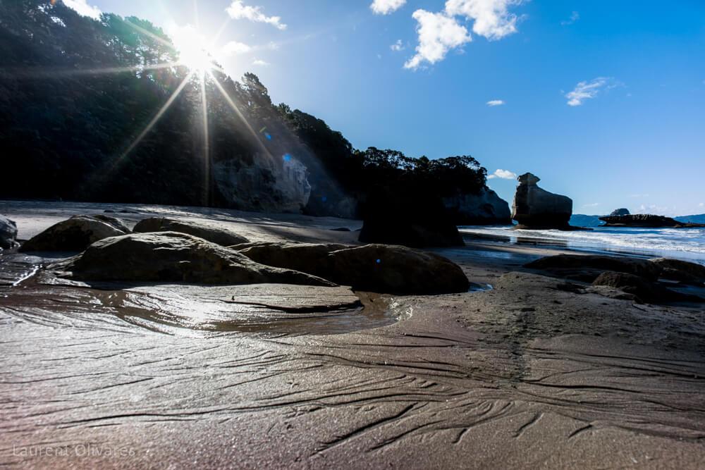 La plage à Cathedral Cove
