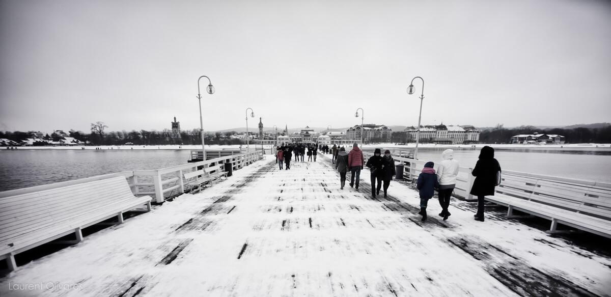 """""""Molo"""" et Sopot sous la neige"""