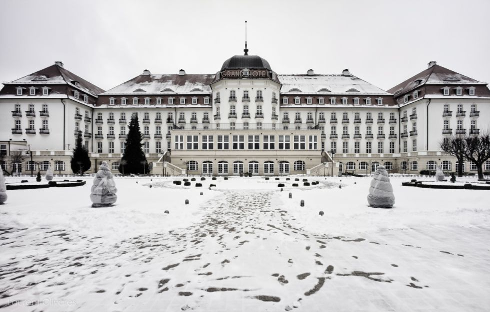 Le Grand Hotel de Sopot sur le bord de la Baltique