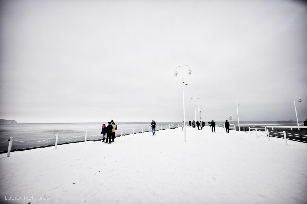 """De la neige sur le """"Molo"""""""