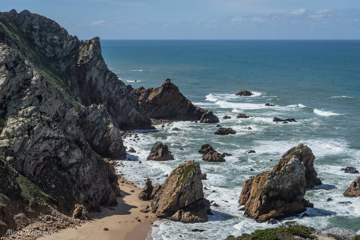 Wybrzeże Portugalii, widok z góry