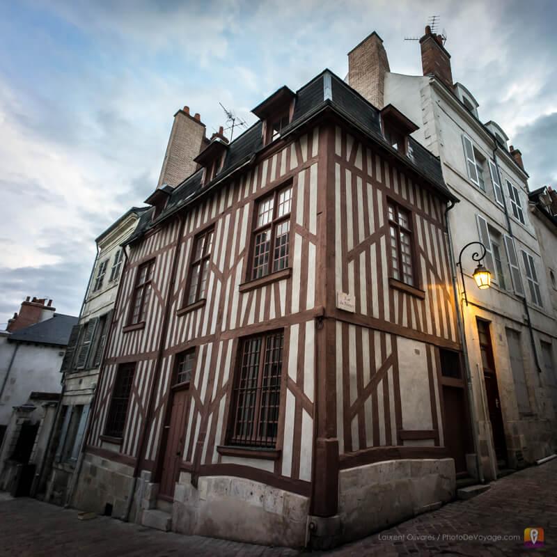 Une maison à colombage typique du centre historique